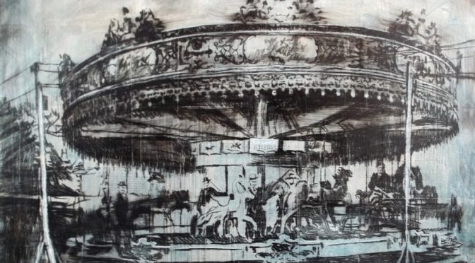 drawing of carousel
