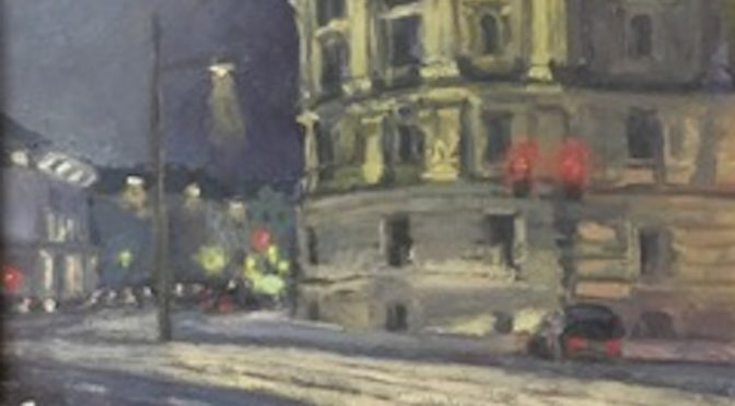 Painting of bulidings in Vienna