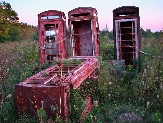 Dilapitated phone booths