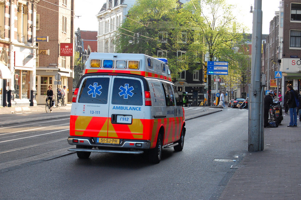 ambulance driving away