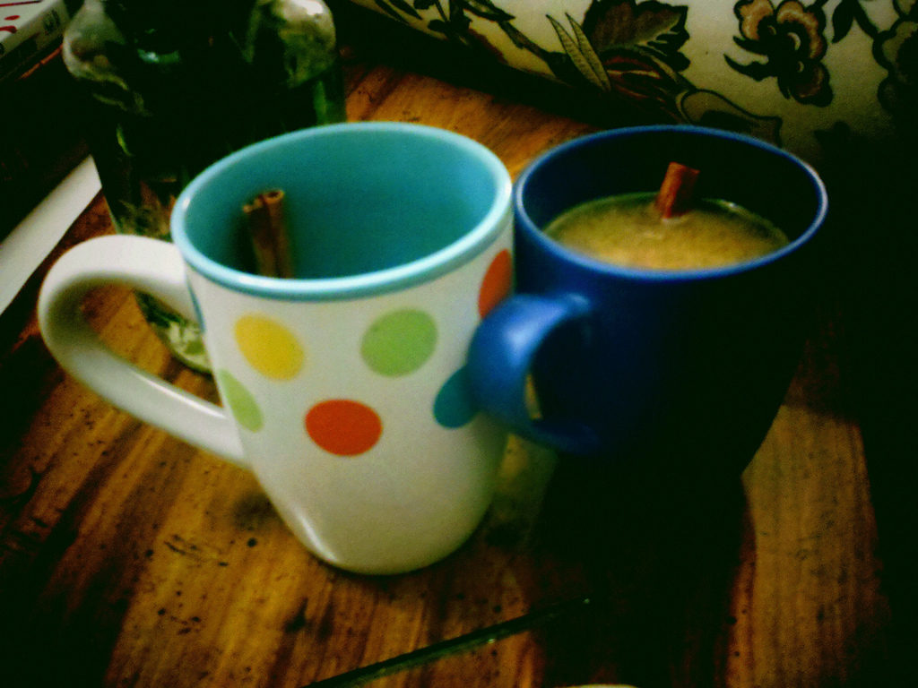 Two mugs of hot toddies