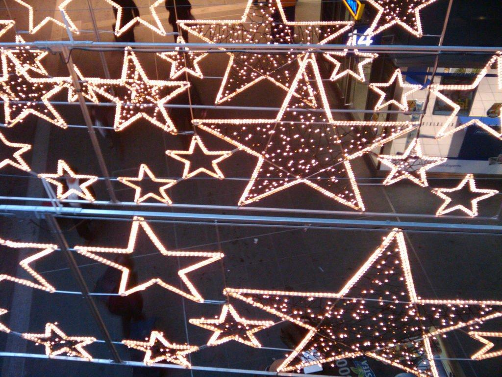Stars made of lights