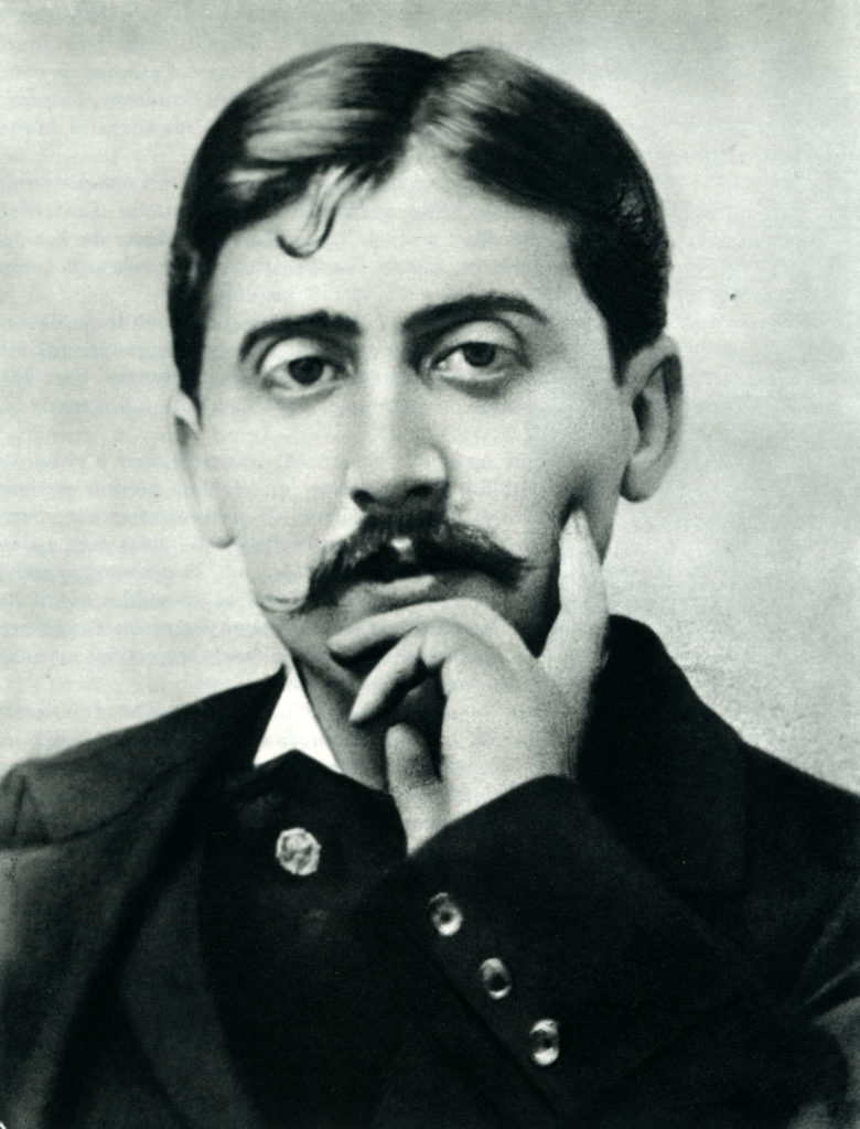 Black and white photo of Proust