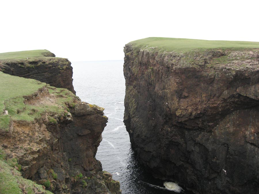 Cliffs with water between them