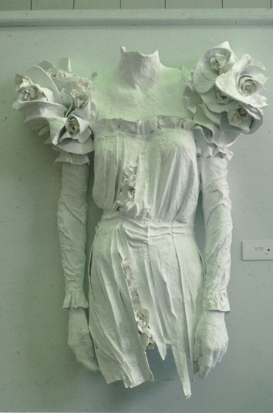 plaster torso of Eleanor Roosevelt dress