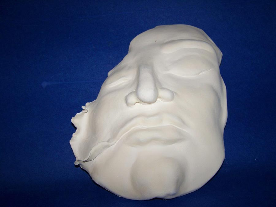 White sculpted mask
