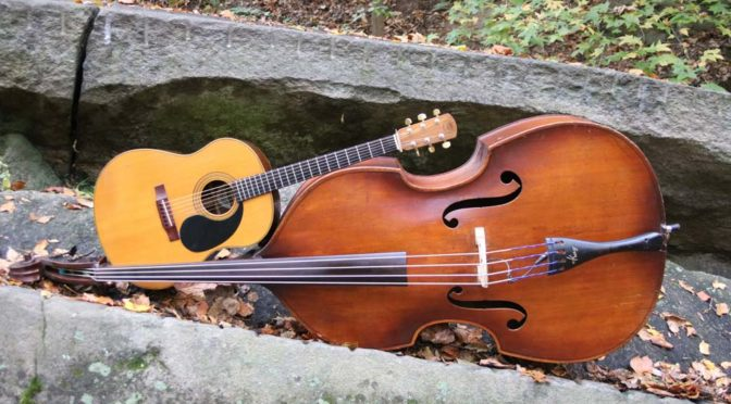 string bass and acoustic guitar