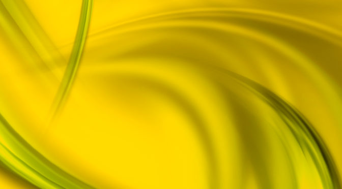 Yellow and green photo with swirls