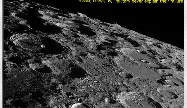 Black and white photo of moon craters