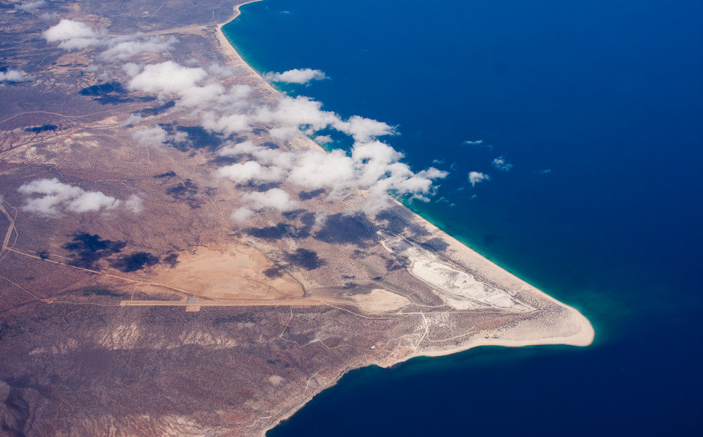 Aerial photo of Baja, California