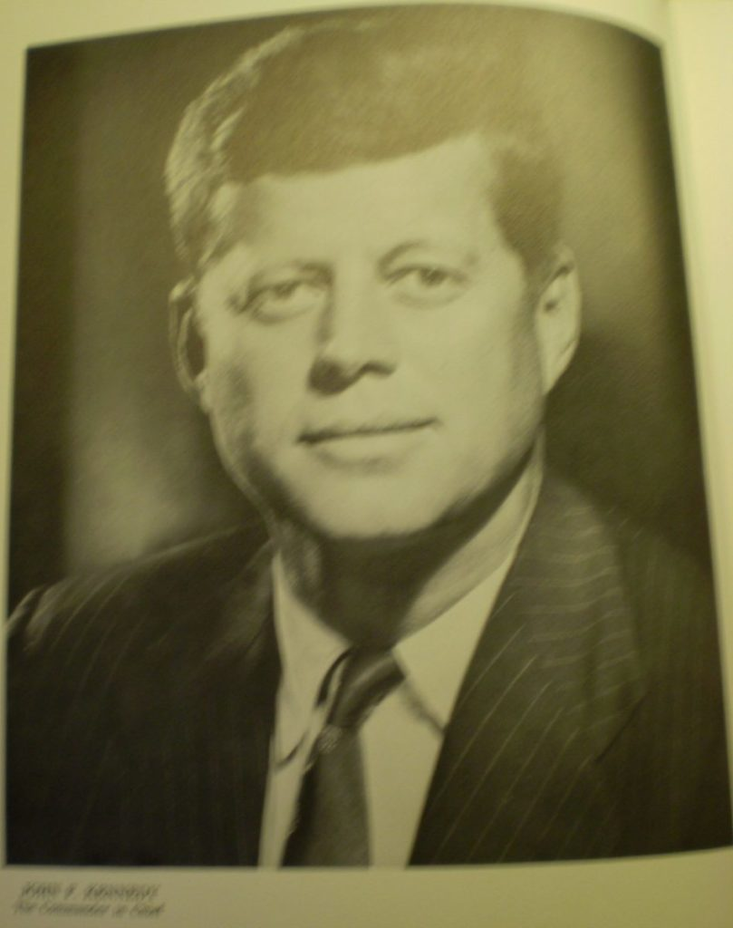 Photo of a photo of JFK