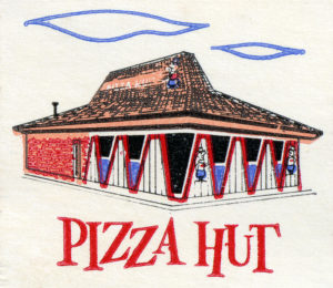 Drawing of old Pizza Hut