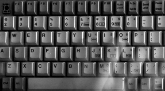 black and white computer keyboard
