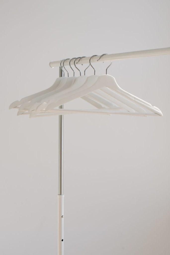 Clothing rack with hangers