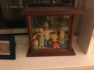 Simpsons dolls, framed