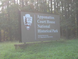 Photo of sign of Appomattox Court House National Historic Park