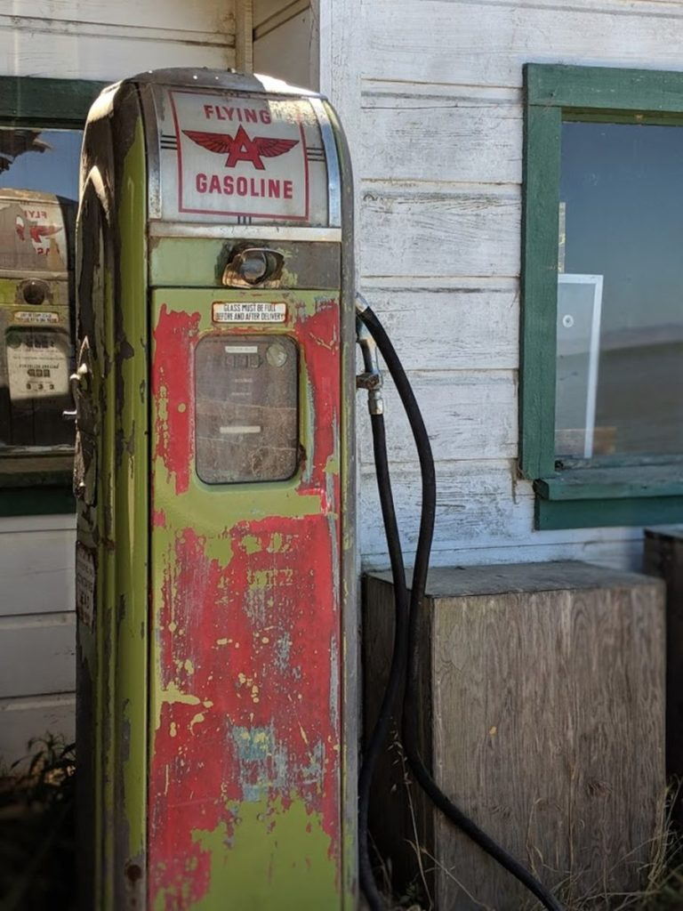 Photo of an old gasoline pump