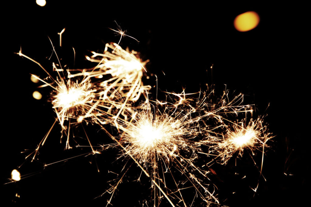 Close up photo of sparklers