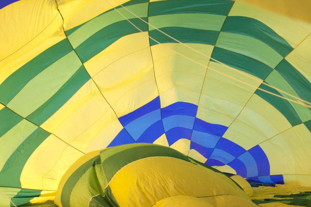 Photo of inside of hot air balloon