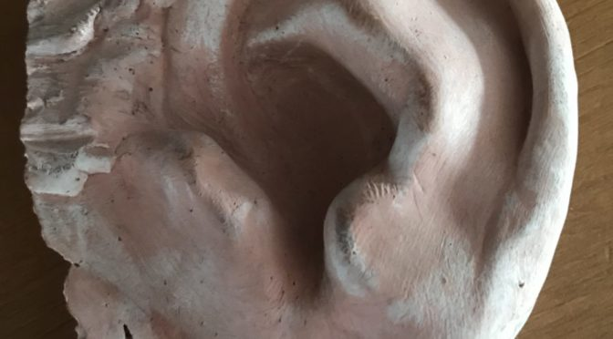 Mold of Arthur Ashe's ear