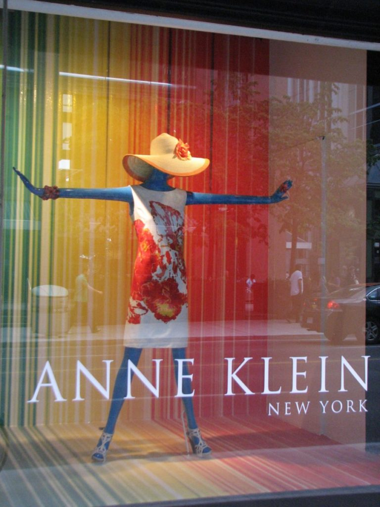 Photo of display in Anne Klein window