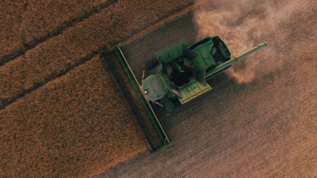 Bird's eye view of tractor