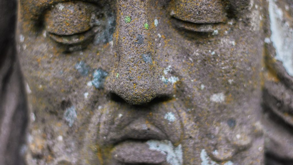 Close up photo of a statue