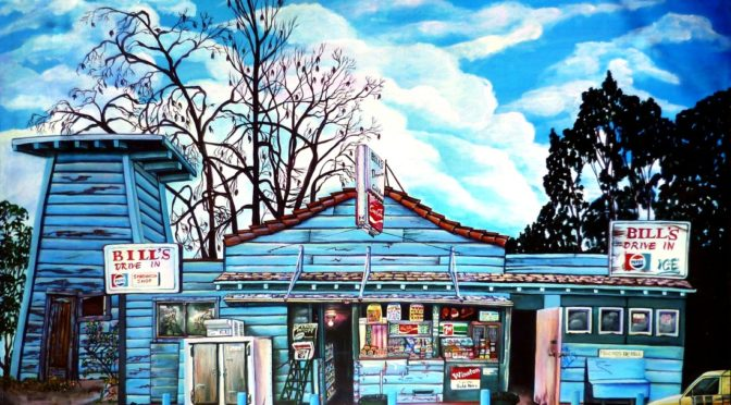 Painting of old drive-in