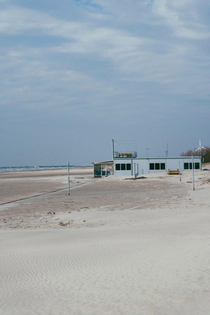 Photo of building on beach