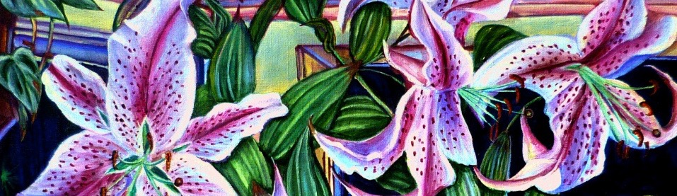 painting of star lilies