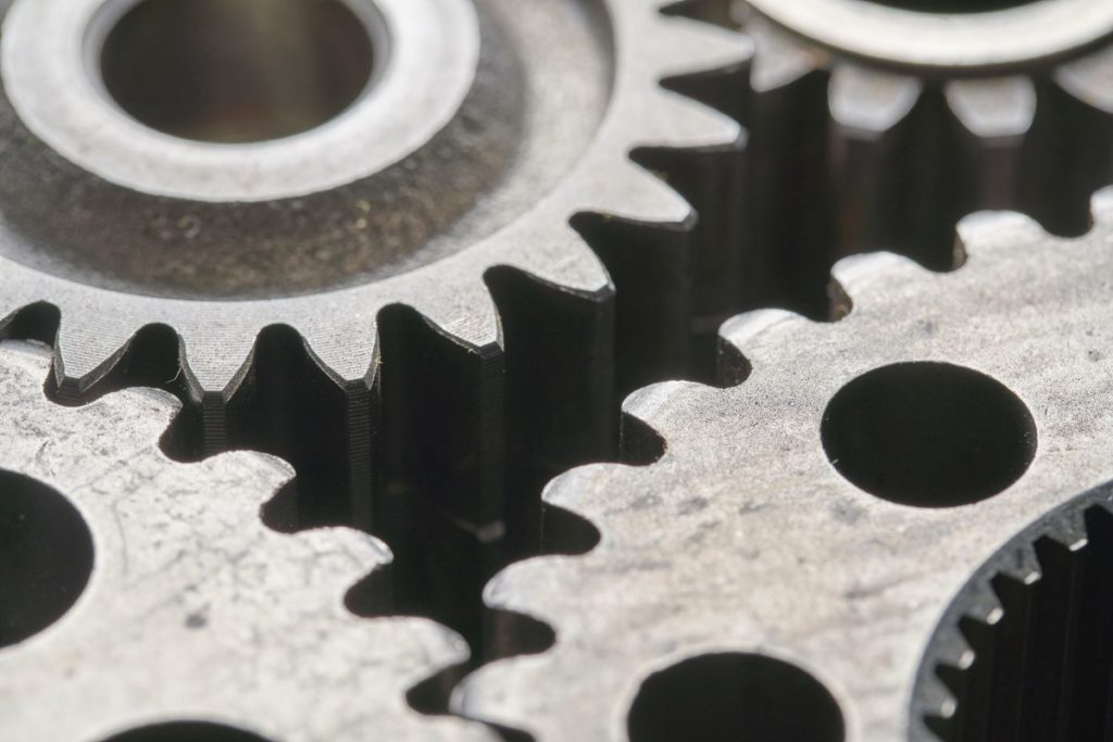 Close up photo of gears