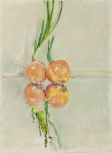 Painting of four onions together