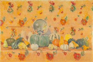 Painting of numerous types of squash