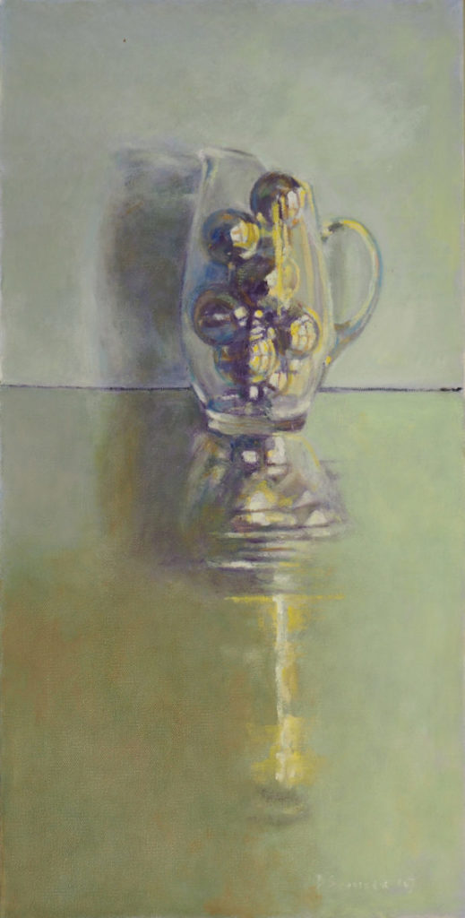 Painting of vase filled with things