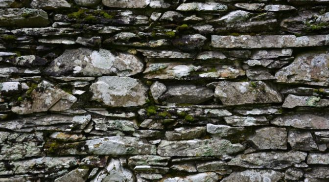Photo of stone wall