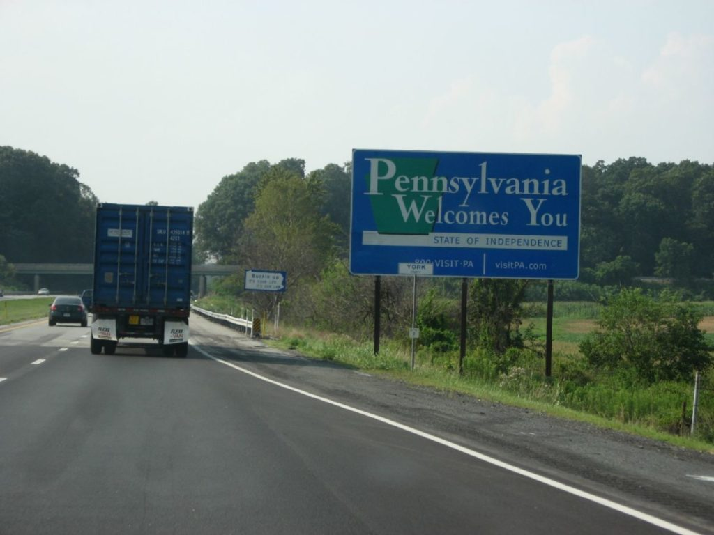 Photo of Pennsylvania Welcomes You sign