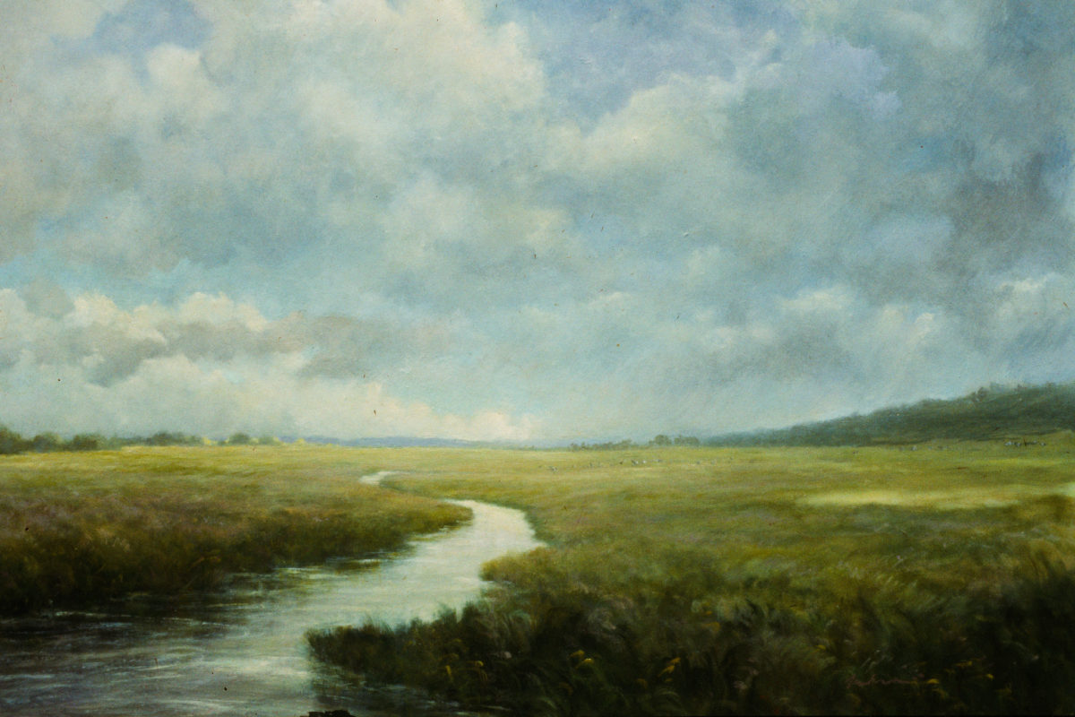 Painting of creek