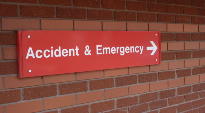 Photo of red Accident and Emergency sign