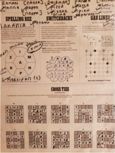 Photo of puzzles in newspaper