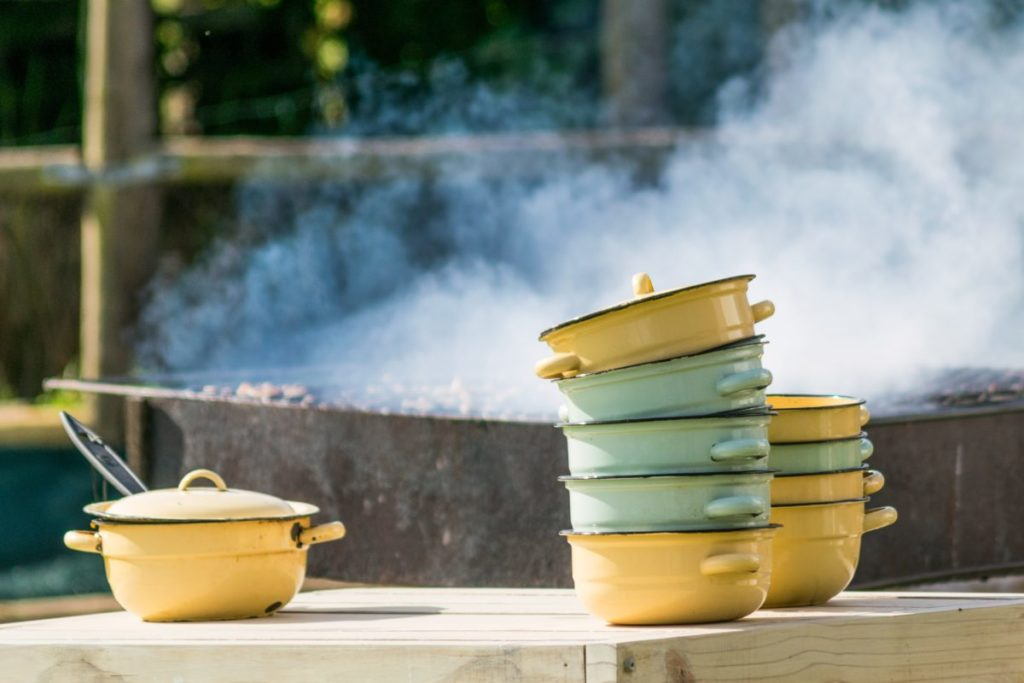 Photo of stacked pots