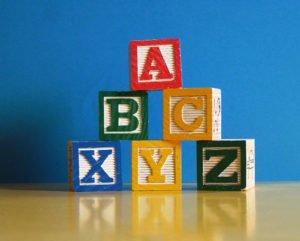 Photo of alphabet blocks