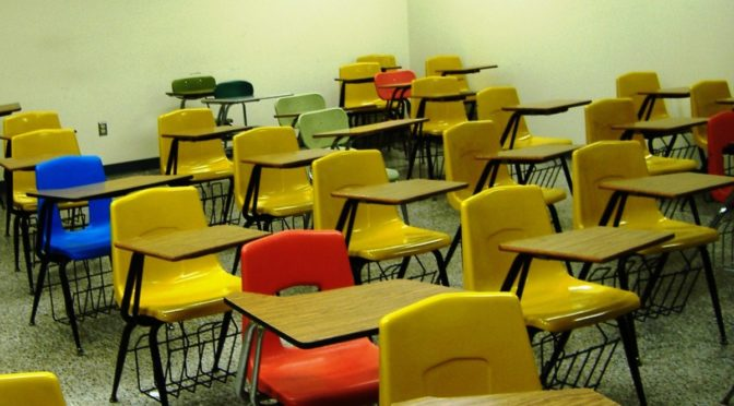 Photo of chairs in classroom